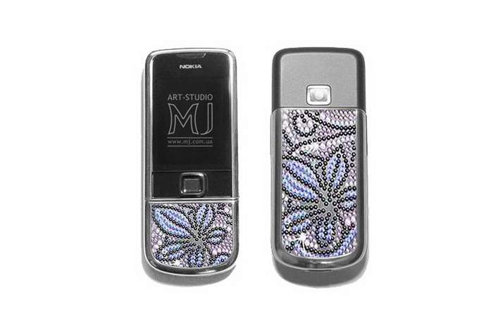 MJ Titan Phone Limited Edition - Nokia 8800 Arte Sapphire Platinum, Inlaid Swarovski