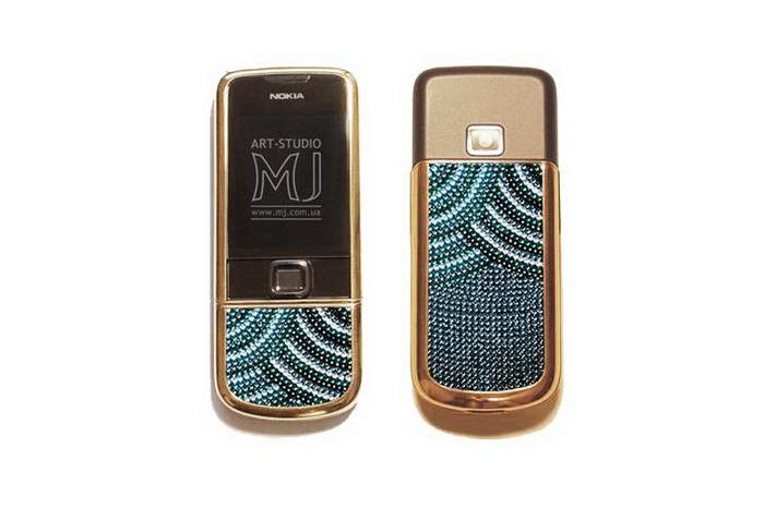 MJ Bronze Mobile Phone 2009 - Nokia 8800 Arte Bronze Jeweler, Incrusted Gems