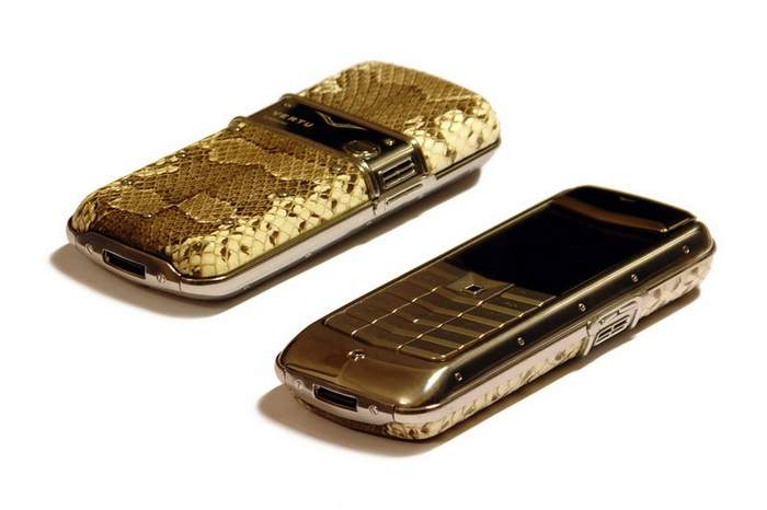 MJ Customized Mobile Phone - Boa Genuine Leather, Black Diamond Skin