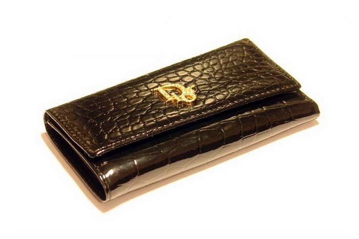 MJ Dior Mobile Case & Phone - Genuine Leather Crocodile with Gold Logo