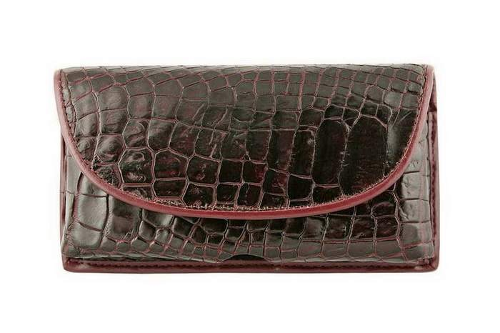 MJ Unique Mobile Case - Bag, Genuine Leather - Crocodile Alligator Brown
