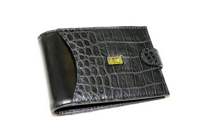MJ Super Luxury Purse - Only Genuine Leather Crocodile & Pure Gold 999,9