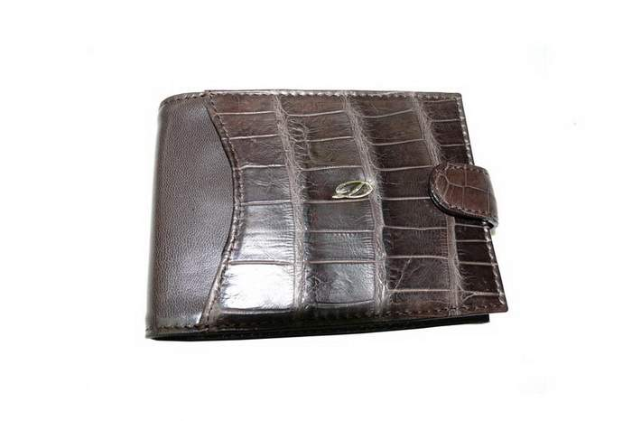 MJ Dupont Purse Limited Edition - Crocodile Leather, Gold Logotype