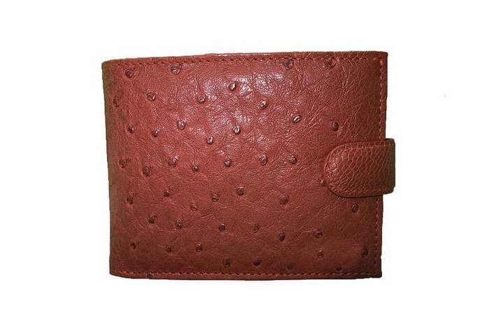 MJ Lux Gentlemen Purse - Genuine Ostrich Leather