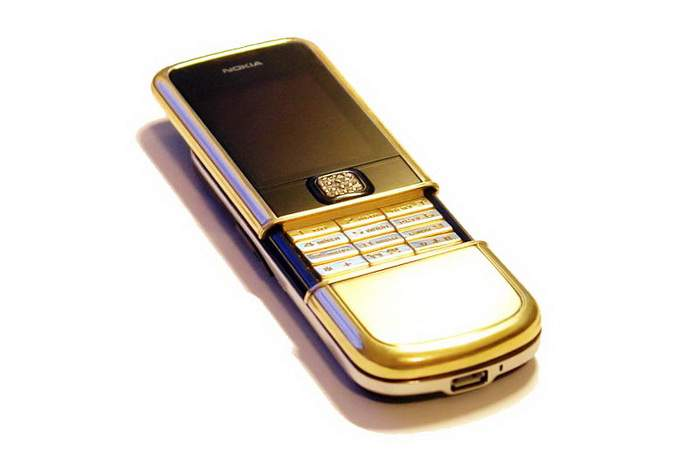 MJ Space Gold Diamond Phone - Nokia 8800 Arte Gold Brilliant Buttons