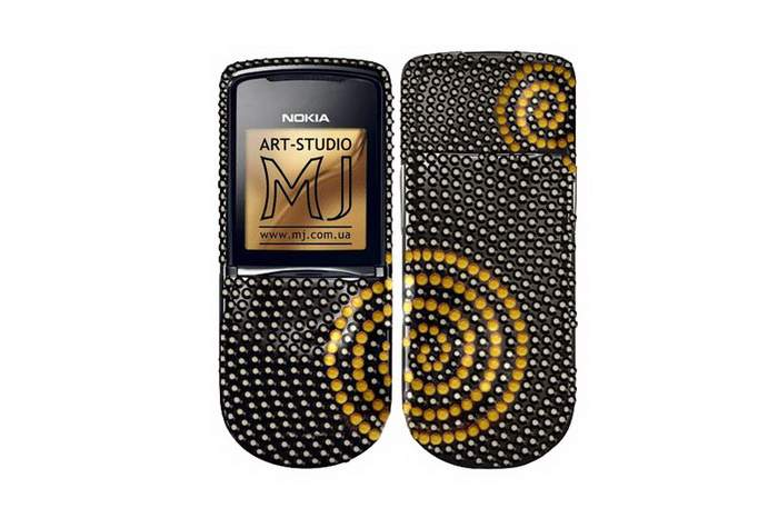 MJ Brilliant Phone - Nokia 8800 Inlaid Genuine Color Unique Diamonds