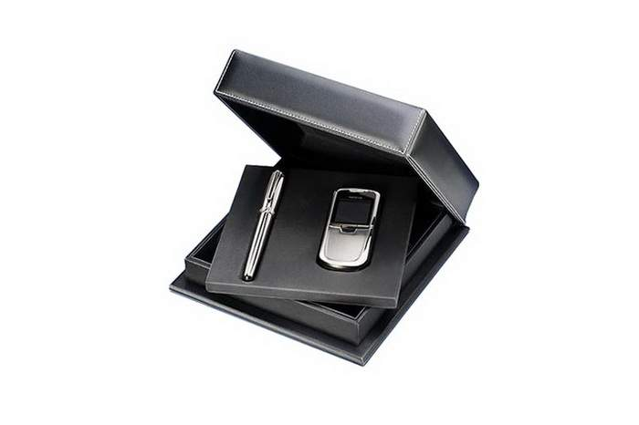 MJ Luxury Business Royal Kit Mobile Phone with Pen - Solid Platinum or White Gold