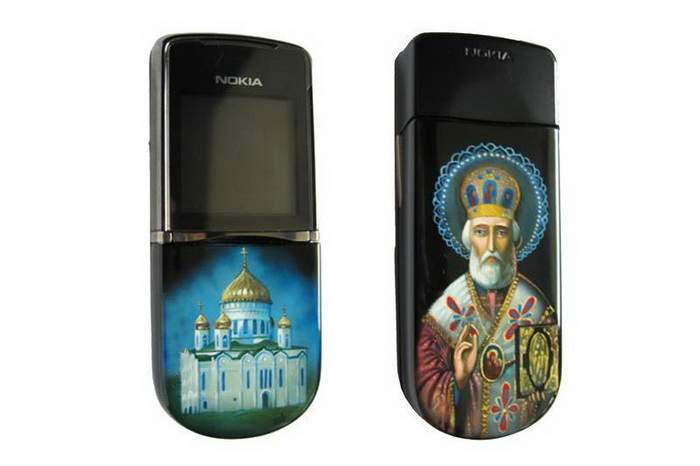 MJ Grand Mobile Phone - Nokia 8800 Sirocco Art-Paint - Religion Church