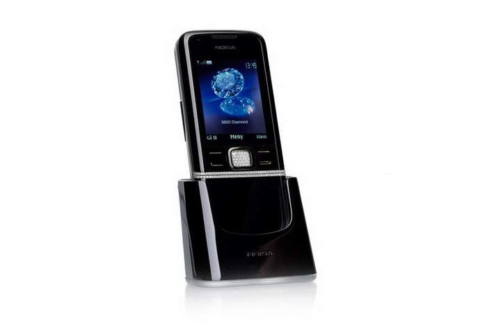 MJ Diamond Mobile Phone - Nokia 8800 Diamond Black Edition