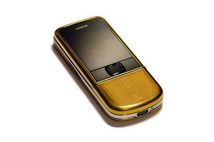 MJ Exotic Skin Mobile Phone - Nokia 8800 Gold Arte, Sea Eel, Gold AMG