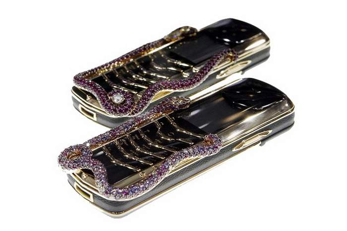 MJ Anaconda Expensive Mobile Phones Limited Edition - Vertu Signature Exclusive Real Diamonds, Sapphires, Rubies.