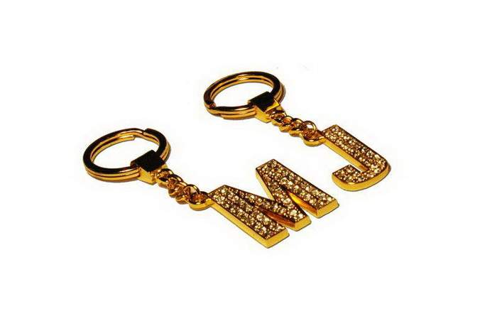 MJ Gold Key ring - Gold 14k with Diamonds