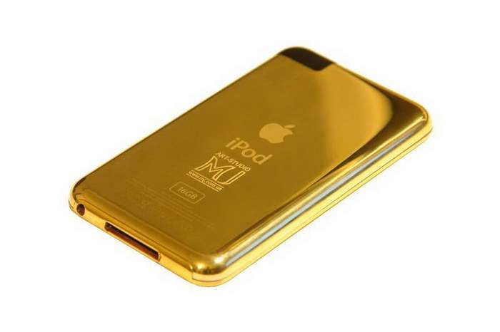 MJ Unique Gold HiTech by Apple - iPod Touch & iPhone from Gold 18k