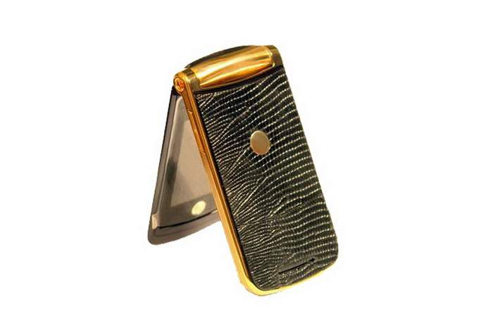 MJ Imperial Mobile Phone Luxury Edition - Gold 24k, Genuine Iguana Skin