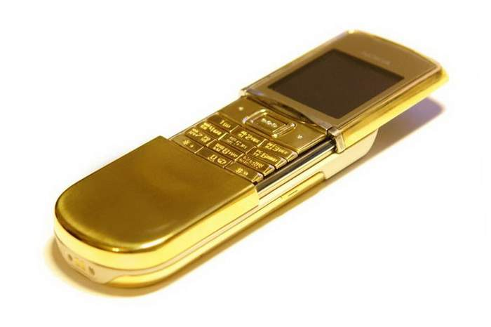 MJ Full Gold Phone Luxury Hi-Tech - Nokia 8800 Sirocco Solid Gold 585